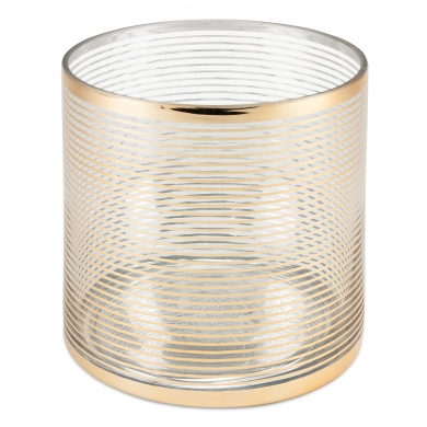 Cor Mulder Glas Windlicht Gold-Rings 14 cm Gold